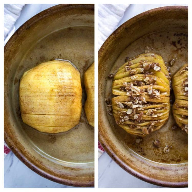 Baked Hasselback Apples