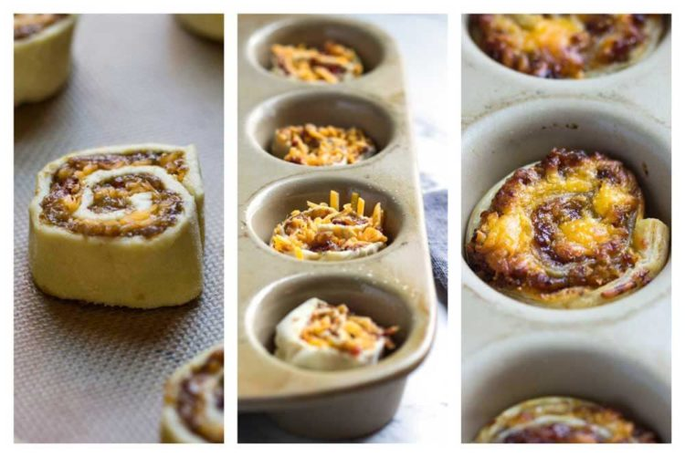 These Cheddar Bacon Jam Puff Pastry Bites are the perfect cocktail party food, Game Day appetizer and with the upcoming holidays, a great handheld, tasty bite! They go in no time so make two batches! www.keviniscooking.com