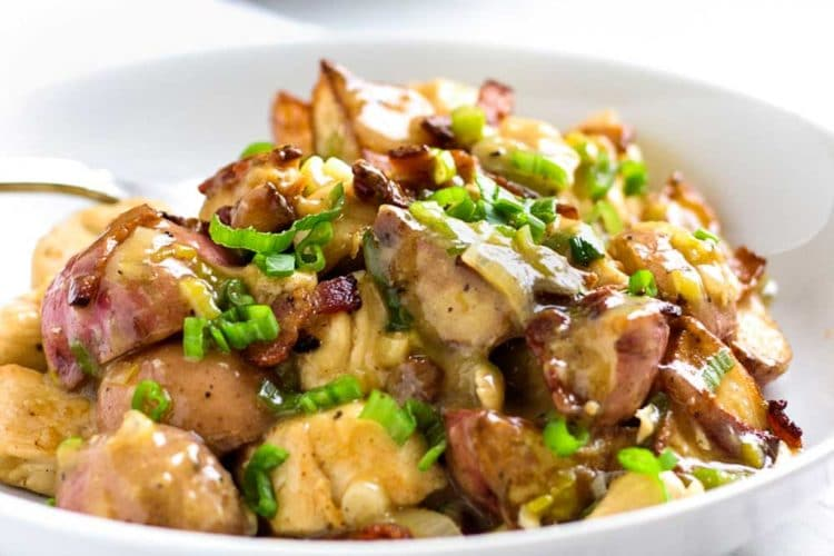 German Fried Potatoes with Chicken