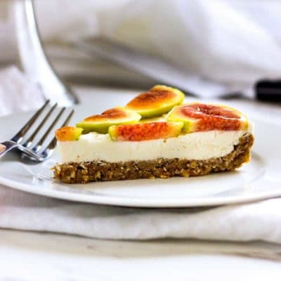 No Bake Cheesecake Fig Tart