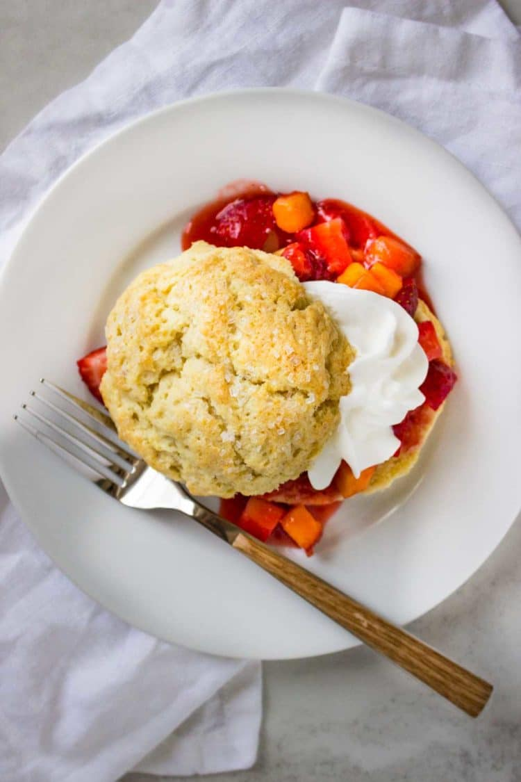 Peach Strawberry Shortcake - Kevin Is Cooking