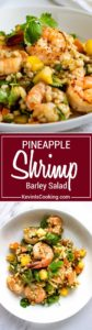 What's great about this Pineapple Shrimp Barley Salad is it's fresh, healthy and fills you up without fattening you up! A tasty go-to lunch or dinner.