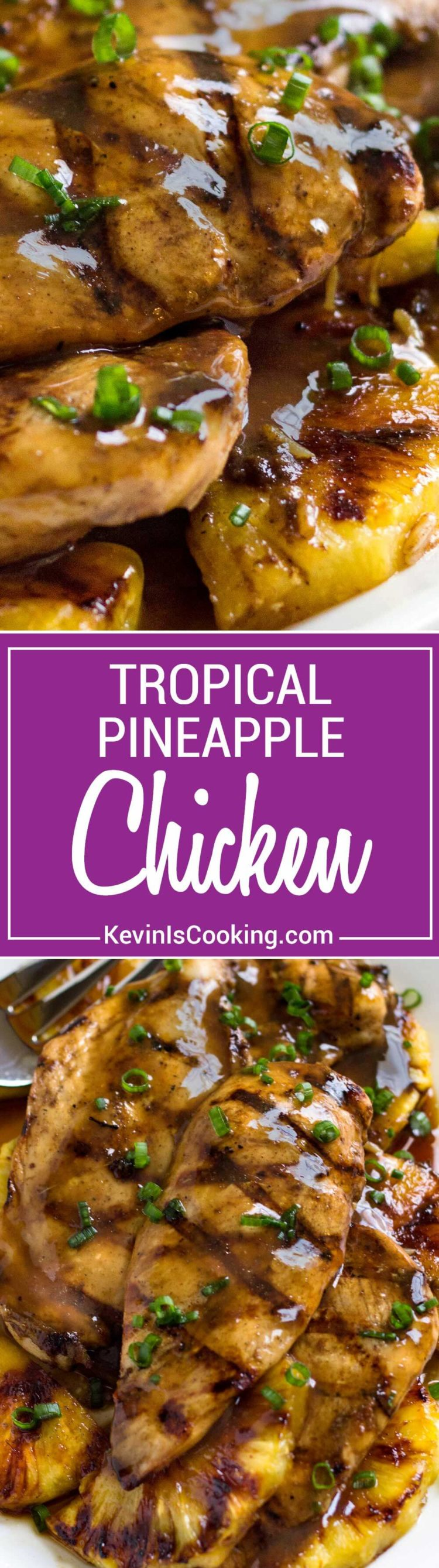 With Caribbean influences this Tropical Pineapple Chicken recipe uses a marinadeturn glaze, reminiscent of a jerk sauce. Grilled or baked recipe versions!