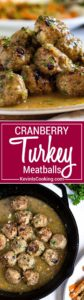 Super moist, tender and packed with flavor, these Cranberry Turkey Meatballs are great any time of year! A quick pan sauce coats them, easily serve as an appetizer or with a side for a meal. Not dried out lumps, these meatballs are beyond and a family favorite!