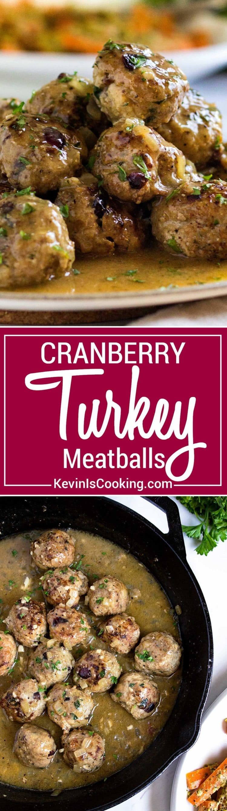 Super moist, tender and packed with flavor, these Cranberry Turkey Meatballs are great any time of year! Serve as an appetizer or with a side for a meal.