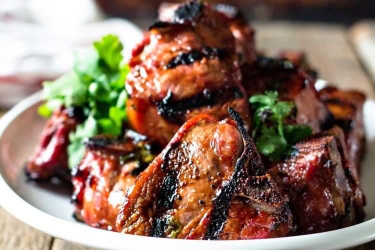Grilled Hoisin Lamb Loin Chops
