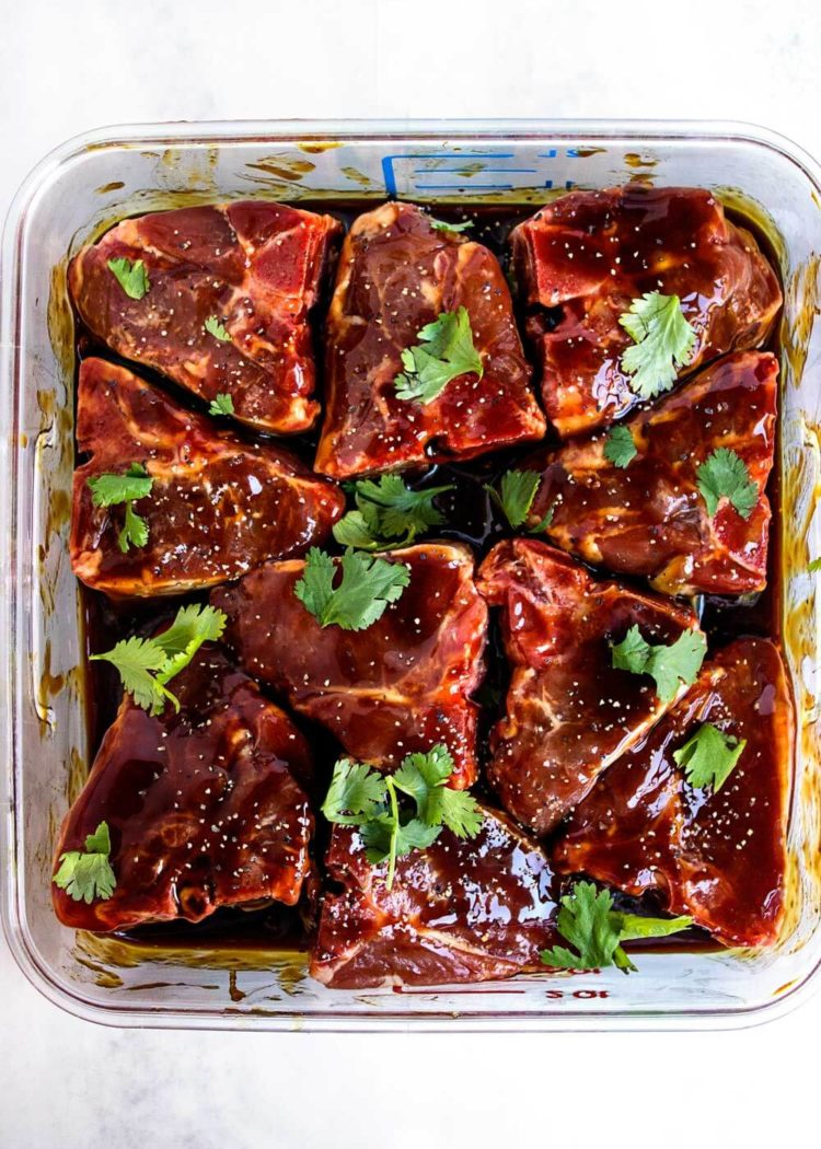 Hoisin marinated lamb loin chops