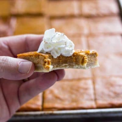 Slab Pumpkin Pie Bars