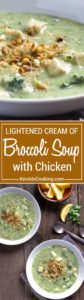 This Cream of Broccoli Soup with Chicken uses less butter and cream, is loaded with fresh broccoli and savory chicken. The pine nut breadcrumb topping sets it off and is pure comfort food. Never any leftovers!