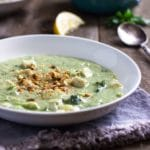 Cream of Broccoli Soup with Chicken