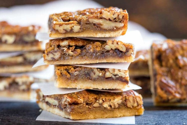 Imagine all the richness of a slice of pecan pie but this one has a layer of melted chocolate in between that luscious pecan pie filling and flaky dough crust in bar form. Perfect for large crowds, holiday family get togethers and picnics… No dishes to clean up after either. www.keviniscooking.com