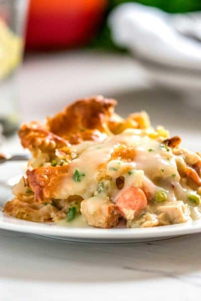 Savory Turkey Pot Pie Casserole