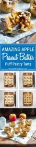 An incredible combination of flavors, these Apple Peanut Butter Tarts have it all. Puff pastry encases peanut butter, topped with diced apples, a dab of apple butter and peanuts. Baked to a golden delicious, no pun intended, finish, these are the best little desserts that deliver big on flavor.!