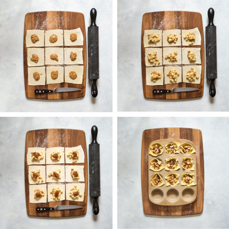 An incredible combination of flavors, these Apple Peanut Butter Tarts have it all. Puff pastry encases peanut butter, topped with diced apples, a dab of apple butter and peanuts. Baked to a golden delicious, no pun intended, finish, these are the best little desserts that pack big flavor. www.keviniscooking.com