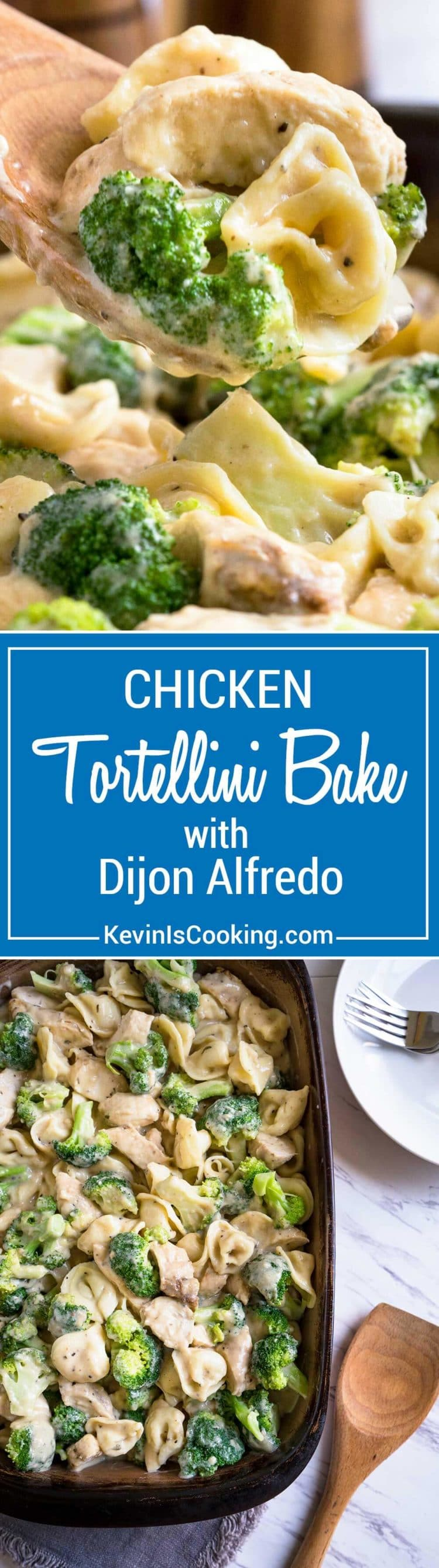 This Chicken Tortellini Dijon Alfredo gets lightened up a bit and some added flavor weapons like Dijon mustard and tarragon make this sauce sing. Fresh, crunchy broccoli and a cheese tortellini are tossed with pan seared chicken strips for a quick and delicious dinner. The whole family loves it!