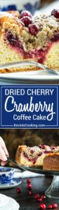 This Cranberry Coffee Cake has a brown sugar streusel that's a crumbly and sweet contrast to the tangy cranberry jam that tops this super moist coffee cake. Thisis going to be perfect for the holidays and out of town guests!