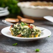 A healthy alternate to a traditional quiche with crust, this Crustless Spinach Quiche with Ham is packed with spinach, cheeses and ham for that lighter breakfast touch. www.keviniscooking.com