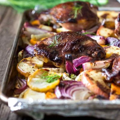 Five Spice Roasted Chicken Thighs