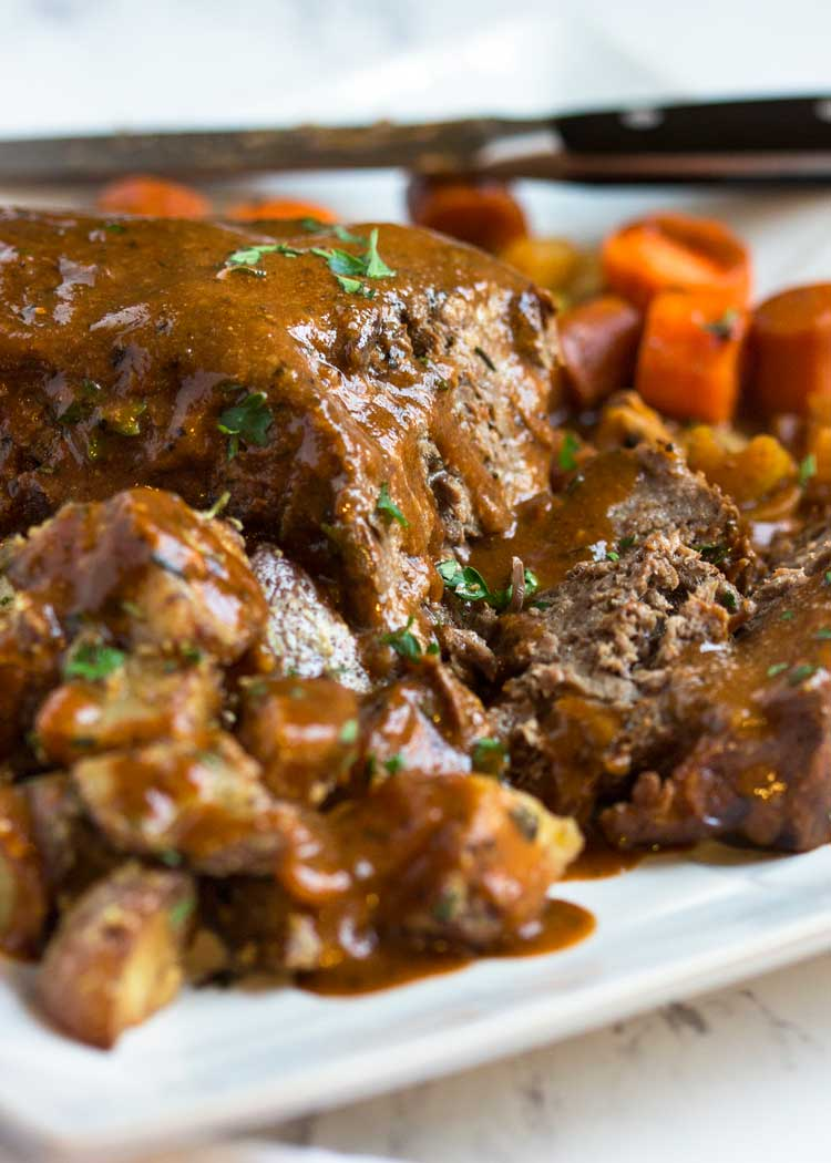 Savory Slow Cooker Pot Roast - Kevin Is