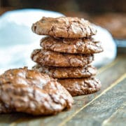 Beacon Hill Cookies - Meringue gets mixed with melted chocolate and chopped walnuts for a delicate, rich GF cookie. keviniscooking.com