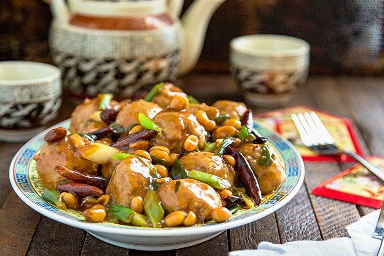 Kung Pao Chicken Meatballs