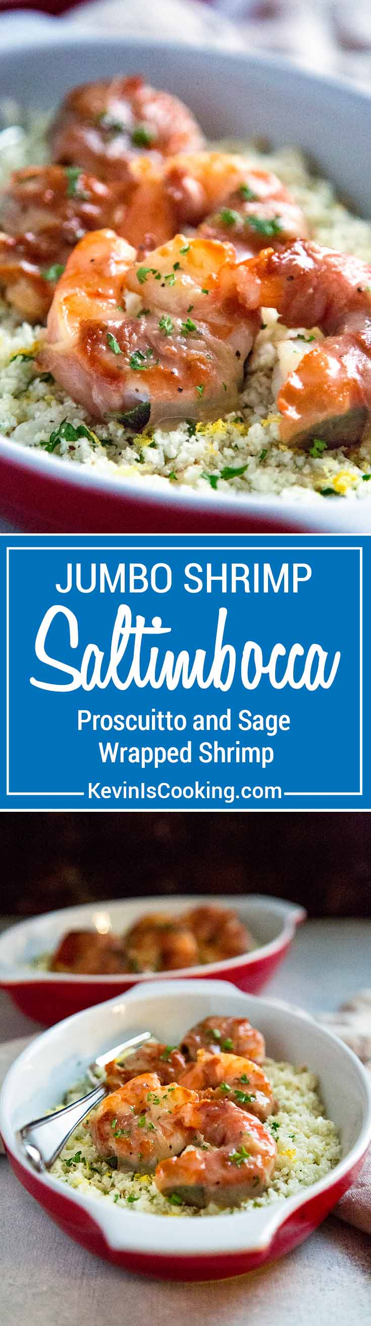 Instead of using the traditional veal for this recipe I thought using jumbo shrimp would make a wonderful substitute. I wasn't wrong. This Shrimp Saltimbocca is amazing!
