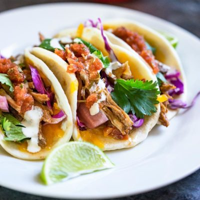 Slow Cooker Flank Steak Street Tacos