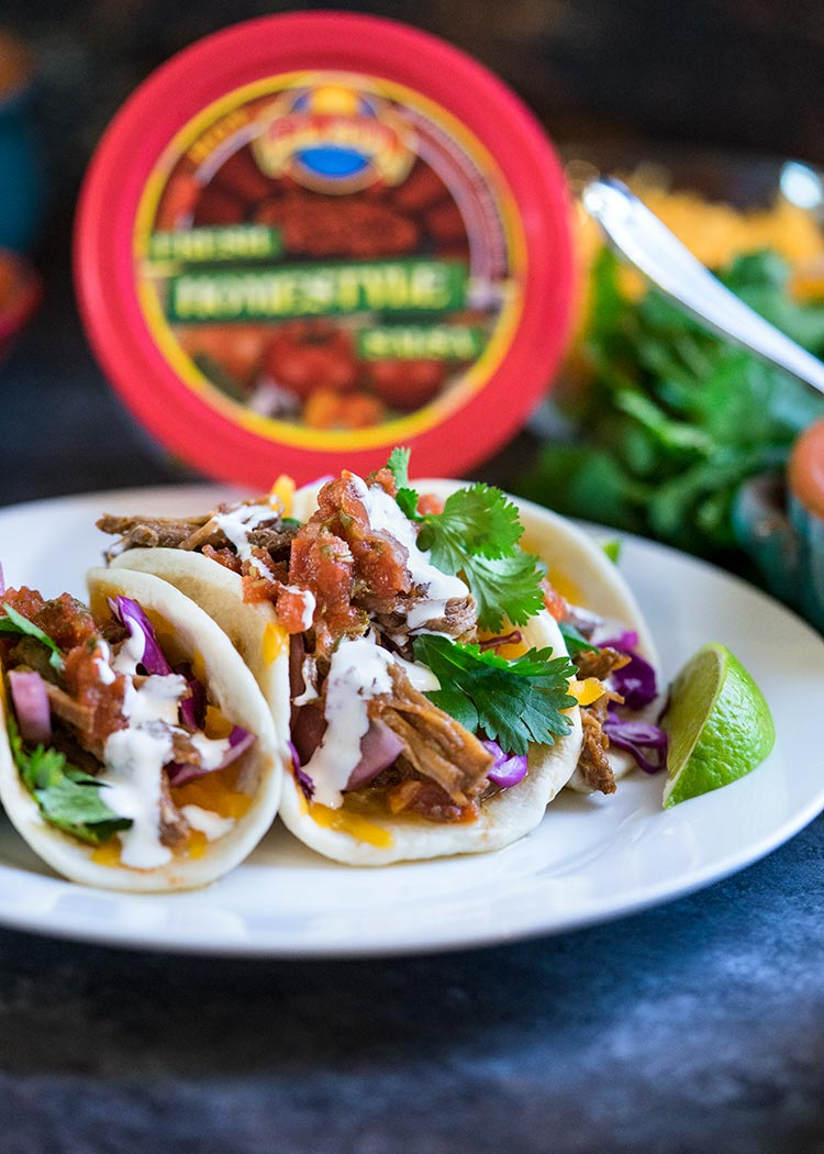 I make these Slow Cooker Flank Steak Street Tacos often and they are a great as a party appetizer or dinner for the family. Beyond flavorful, the shredded flank steak can be used in tacos or enchiladas. www.keviniscooking.com