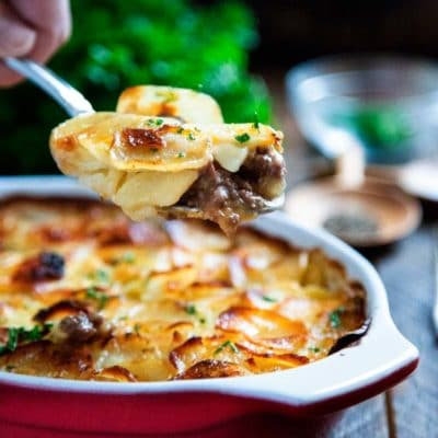 Beef Marsala and Scalloped Potato Casserole