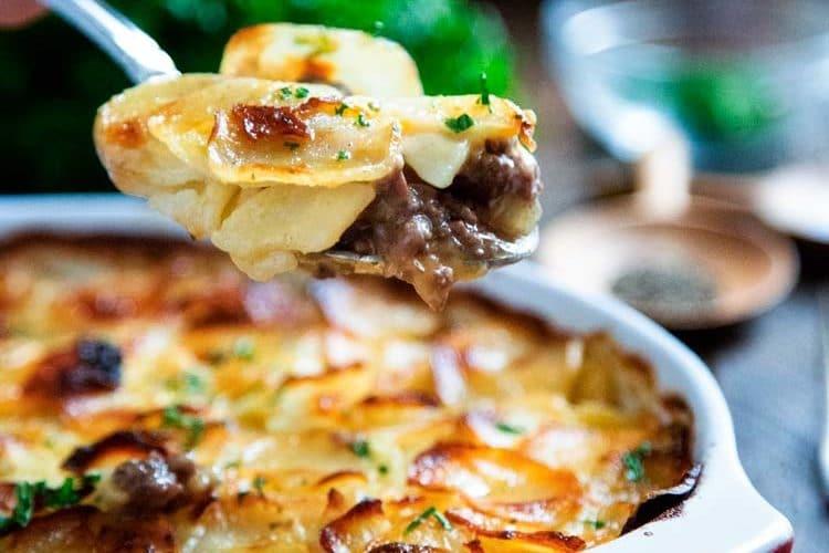 Beef Marsala and Scalloped Potato Casserole