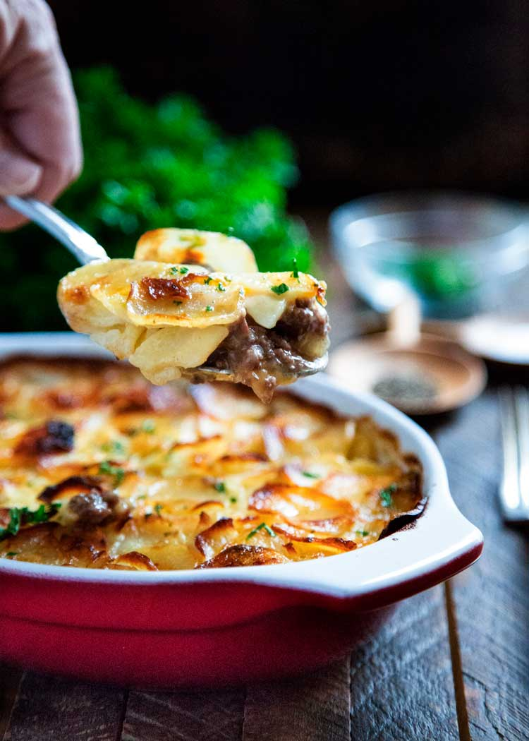Need to feed a meat and potatoes kind of crowd, this Beef Marsala and Scalloped Potato Casserole is always a win! keviniscooking.com