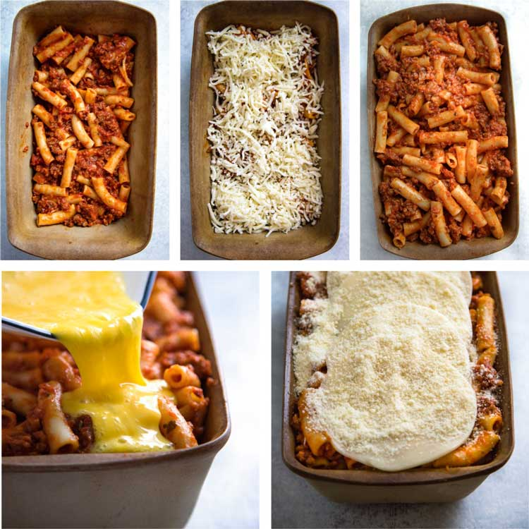 Cheese Crusted Baked Ziti - This classic baked ziti with a bolognese sauce has extra cheese pan fried on each side for extra cheesy goodness. keviniscooking.com
