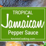 This Jamaican Pepper Sauce brings the heat with habaneros, mango, pineapple and cumin, but the secret flavor weapon ingredient I like to add is a carrot. So addicting!
