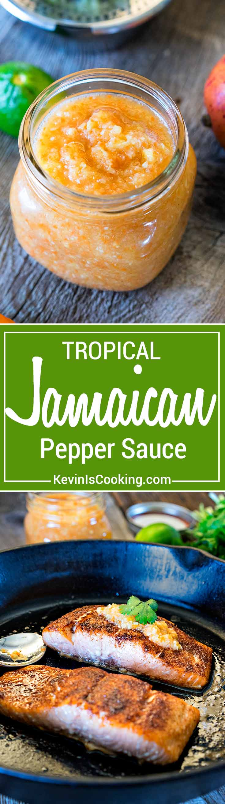 ThisJamaican Pepper Sauce brings the heat with habaneros, mango, pineapple and cumin, but the secret flavor weapon ingredient I like to add is a carrot.