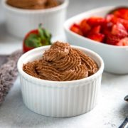 Piret's Chocolate Mousse is a classic French dessert made with melted chocolate, eggs and whipping cream that I learned to make at Piret's in San Diego. keviniscooking.com