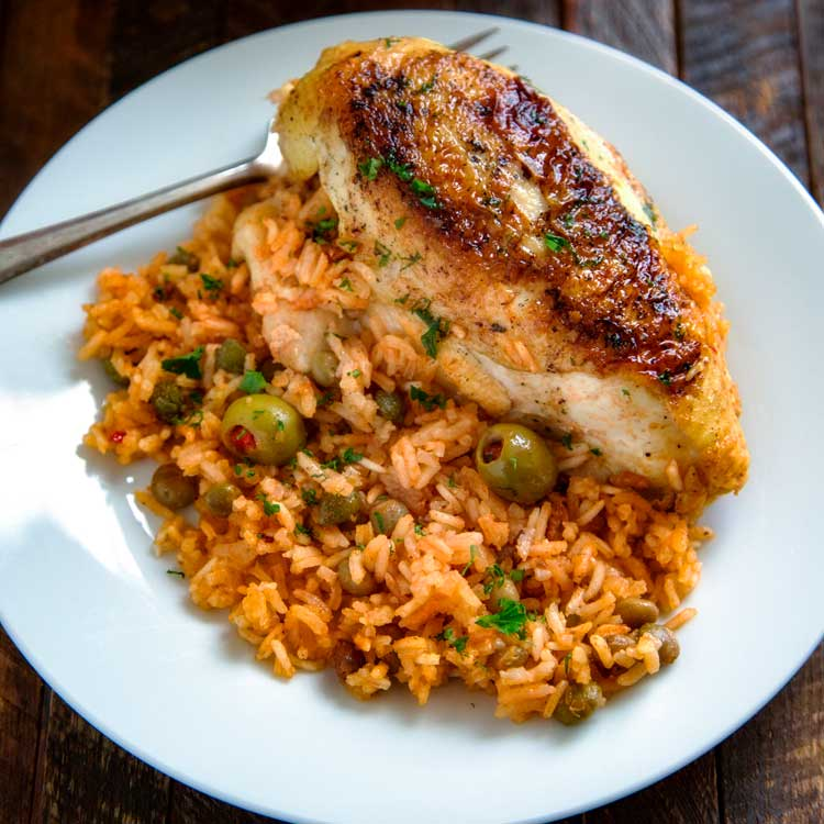 Puerto Rican Chicken And Rice Arroz Con Pollo Kevin Is Cooking