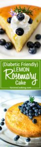 If you have a diabetic in the house this is a wonderful and light dessert. The lemon and rosemary are a fantastic combination. Everybody raves about this!