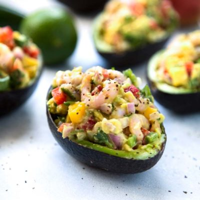 Mango Shrimp Stuffed Avocado