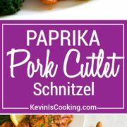 Paprika Pork Schnitzel, not overly spicy, but packed with flavor, this pork loin gets pan seared and sauced with a paprika cream that is beyond tasty!