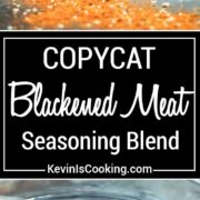 Here is my copycat version of Emeril's spicy Blackened Meat Seasoning. a fantastic blend of herb sand spices for that perfect blackened cajun meal.