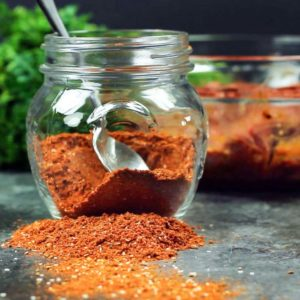 Here is my copycat version of Emeril's spicy Blackened Meat Seasoning. a fantastic blend of herb sand spices for that perfect blackened cajun meal. keviniscooking.com
