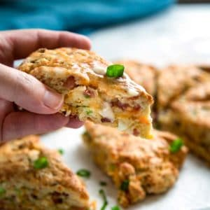 Warm, tender and flakey, these Ham and Cheese Scones make the most of any leftover holiday ham in a good way. keviniscooking.com