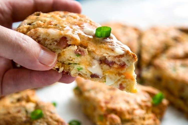 Savory Ham and Cheese Scones