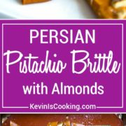 Persian Almond and Pistachio Brittle - Sweet and salty brittle gets a fun twist here with delicate Persian flavors like rose water, saffron and it's loaded with almonds and pistachios. So amazing!