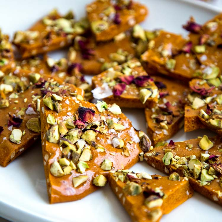 Persian Almond and Pistachio Brittle - keviniscooking.com