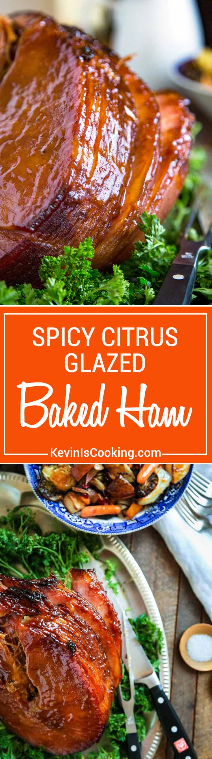 Just mouthwatering! Perfect for a holiday table, this Spicy Citrus Baked Ham Glaze develops a wonderful, caramelized crust that's just mouthwatering using orange juice, cinnamon, clove and chipotle powder.
