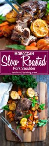 This aromatic and succulent Moroccan Slow Roasted Pork is pull apart delicious after getting a dry rub using my Moroccan Seven Spice blend of black pepper, cinnamon, ginger and other warm spices. So good!