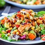 Southwest BBQ Chicken Salad with Grilled Corn