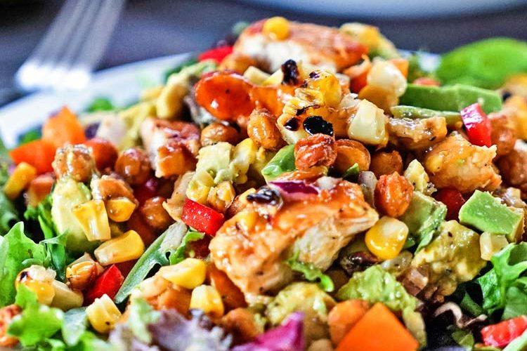 Southwest BBQ Chicken Salad with Grilled Corn