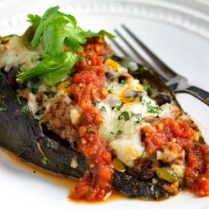 roasted poblano pepper stuffed with southwest ingredients